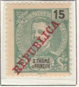 Portugal ST. THOMAS AND PRINCE ISLANDS 1911 15r MH* A5P55F7