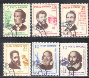 ROMANIA  SCOTT# 1643-48 1964 CTO   SEE SCAN