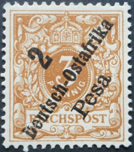 German East Africa 1896 Two Pesa Michel 6c mint