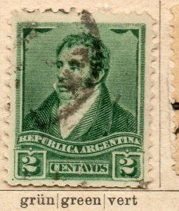 Argentina 1892-98 Early Issue Fine Used 2c. NW-11746