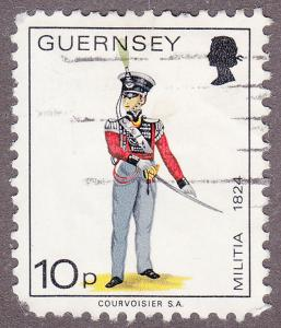 Guernsey 107 USED 1974 Guernsey Royal Militia Guard,1824