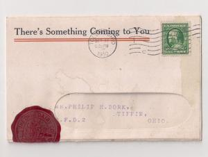 1c #331 used on direct mailer w FOLDING AD & REPLY CARD
