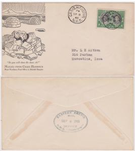 Canada - #246 - 1940 CRAIG HARBOUR Cover Mailed from Most Northern Post Office