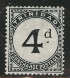 Trinidad  Scott J5 MH* postage due stamp CV$50