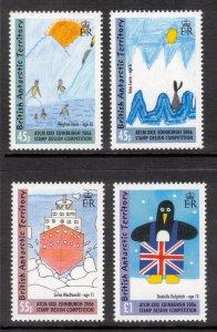 BRITISH ANTARCTIC 2006 Children's Stamp Design; Scott 365-68, SG 415-18;...