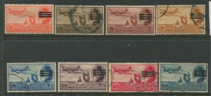 STAMP STATION PERTH Egypt #C67-C70, C73-C76 Air Post Used Short Set 1953