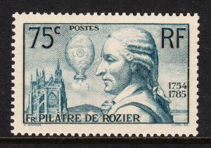 FRANCE — SCOTT 308 (YT 313) — 1936 PILÂTRE DE ROSIER — MH — SCV $19.00