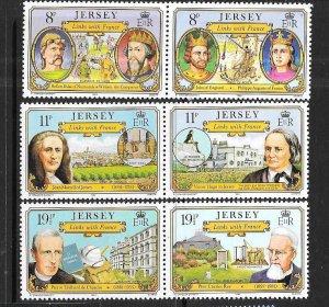 Jersey #289-294   Links with France   (MNH) CV $2.20