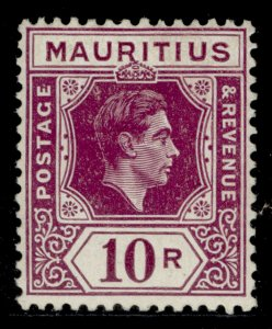 MAURITIUS GVI SG263, 10r reddish purple, M MINT. Cat £80.