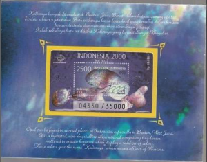 STAMP STATION PERTH Indonesia #1767A-1767Ab MNH S/S 1998 Minerals + Opal Pack