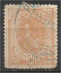 ROMANIA, 1900, used 50b, Prince Carol I, Scott 155