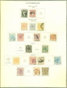 LUXEMBOURG COLLECTION 1852–1972 on Scott Specialty pgs, Hinged & Used, Sc$3,120