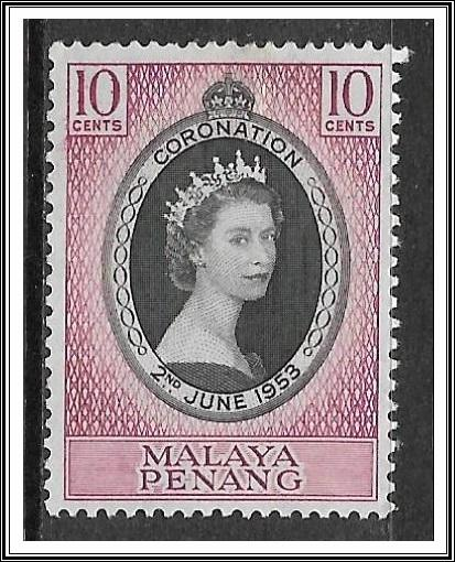 Malaya-Penang #27 Coronation Issue MHR