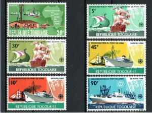 Togo 641-44, C91-92 Mint NH Ships SCV $4.65