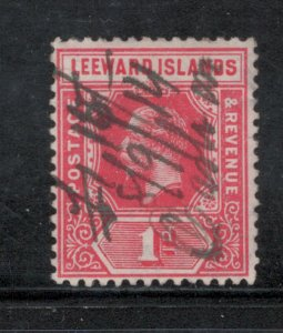 Leeward Islands 1912 King George V 1p Scott # 48a Used