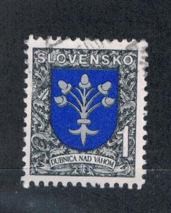 Slovakia 169 Used Arms of Dubnica nad Vahom (S0179)
