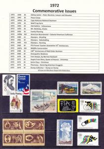 1972 Year Commemorative Full Set Mint Never Hinged (See 2 Scans)