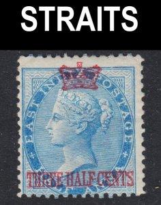 Malaya Straits Settlements Scott 1 Fine mint OG H.