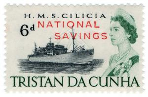 (I.B) Tristan da Cunha Revenue : Savings Stamp 6d