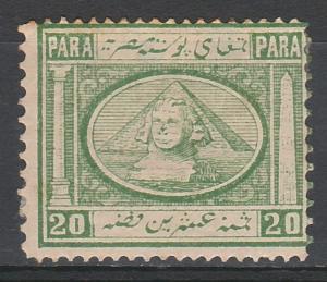 EGYPT 1867 SPHINX & PYRAMID 20PA