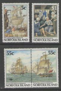 NORFOLK ISLAND SG421/4 1987 BICENTENARY OF NORFOLK 3RD ISSUE MNH