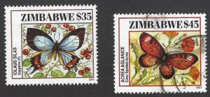 pb3387 Zimbabwe 901-02 used ,cv  $4.50 bin $2.00