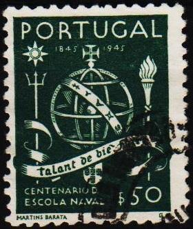 Portugal. 1945 50c S.G.986 Fine Used
