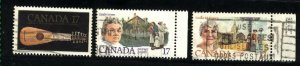 Can #878-80   -2   used VF 1981 PD