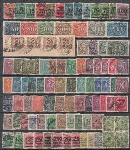 Germany - 1920/1923 Inflation small stamp lot  (1006)