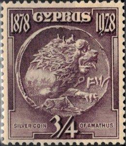Cyprus #114, Unused, Hinged