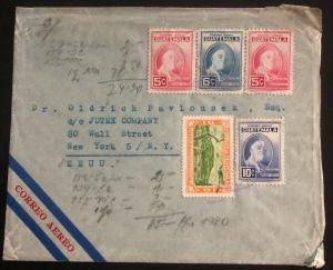 1947 Guatemala Commercial Airmail Cover to Jutex Co New York Usa