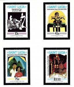 St Lucia 791-74 MNH 1985 Intl Youth Year  (KA)
