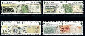 Isle of Man --2011- Internment Postal History  MNH  set # 1448-1451