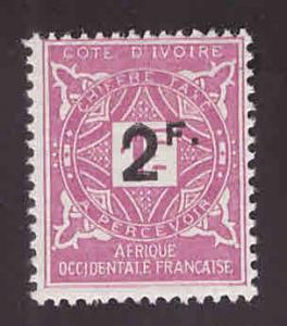 Ivory Coast Scott J17 MH* surcharged postage due stamp