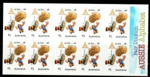 AUSTRALIA SGSB558(4621b) 2016 FAIR DINKUM $10 SELF ADHESIVES MNH