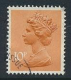 GB Machin 10p  SG X886 Type I  Scott MH70 Used  with FDC cancel please read d...
