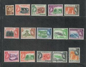 Dominica Sc#142-156 M/LH/VF, Cv. $61