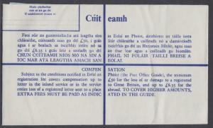Ireland unused 37c olive green Registered Envelope, VF