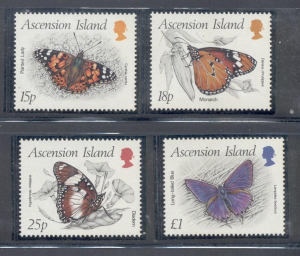 Ascension Sc 426-9 1987 Butterflies stamp set mint NH