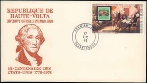 Upper Volta, Worldwide First Day Cover, Americana