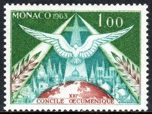 Monaco 543,MNH.Holy Spirit over St Peter's Council of Roman Catholic Church,1963