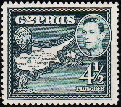 Cyprus.1938 4 1/2pi S.G.157 Unmounted Mint