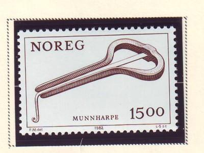 Norway Sc  804 1982 Jew's Harp stamp mint NH