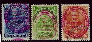 Rare Haiti SC#111-113 Used F-VF...West Indies Treasure!