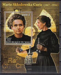 Mali, 2009 issue. Marie Curie s/sheet. ^
