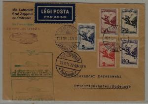 Hungary/Germany/Brazil Zeppelin cover 25.8.31