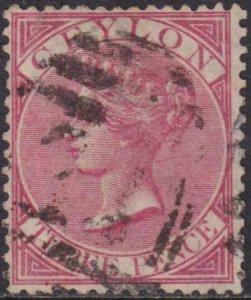 Ceylon 1868 SC 62 Used