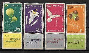 ISRAEL STAMPS JEWISH NEW YEAR FEST., 1952. MNH