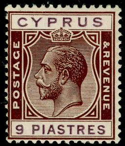 CYPRUS SG113, 9pi brown & purple, LH MINT.