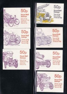GB BK # 231-233(3)234(2) 7 DIFFERENT COVERS BOOKLETS PO FRESH CAT VALUE $22+